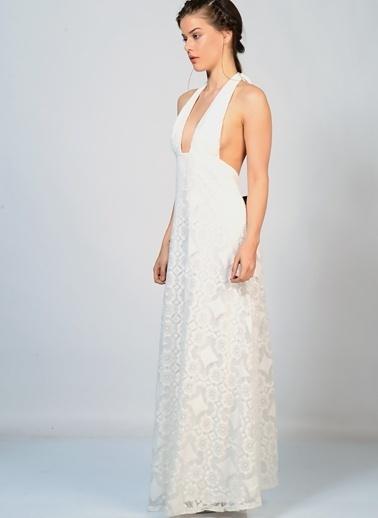 Glamorous Uzun Abiye Elbise Beyaz